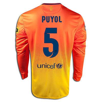 03c112000 1. 1. Previous. NIKE CARLES PUYOL FC BARCELONA LONG SLEEVE AWAY JERSEY  2012 13 LA LIGA · NIKE CARLES ...
