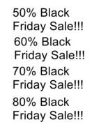 50% 60% 70% 80% Black Friday Sale-Download-ClipArt-ArtClip-Digital - $4.00