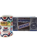 M & M July 4th metal Candy Tins Snickers Radio ... - $24.00