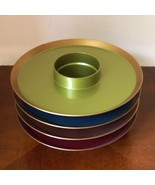 Vintage Mid Century Modern Atomic Hi-Snack Tray Dishes Plates Party Drink Holder - $37.62