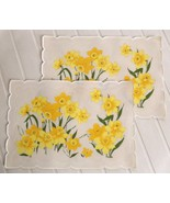 Daffodil Flower Stotter Placemats Vintage Yello... - $11.88