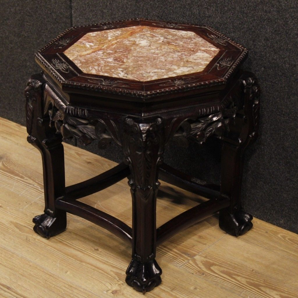 Petite table chinoise meuble salon en bois de chevet tage - Mobilier unique avis ...