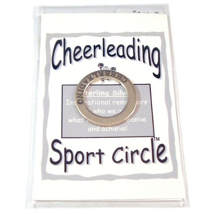 Primary image for Affirmation Sterling Silver Cheerleading Circle Pendant New