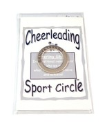 Affirmation Sterling Silver Cheerleading Circle Pendant New - $10.99