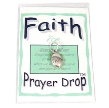 Affirmation Sterling Silver Faith Prayer Drop Pendant Charm New - $6.99