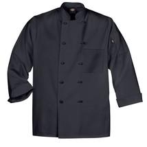 Dickies DCP109 BLK Cloth Knot Button Black Uniform Chef Coat Jacket Medi... - $39.57