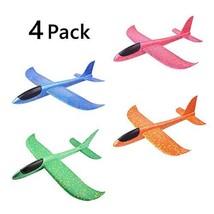 Ytzada Manual Throwing Foam Airplane Toys, 4PCS Glider Plane Model Aircraft Kit