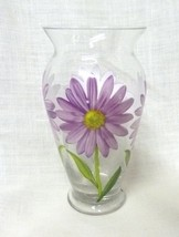 Teleflora Gift Purple Daises Decals Clear Glass... - $19.77