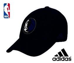 Adidas Dallas Mavericks free ship NBA Basketball Mens Adj Hat Cap Cotton Black - $18.87