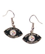 NFL Super Bowl XL (40) Pittsburgh Steelers Champion Earrings 2006 WOMENS... - $9.89
