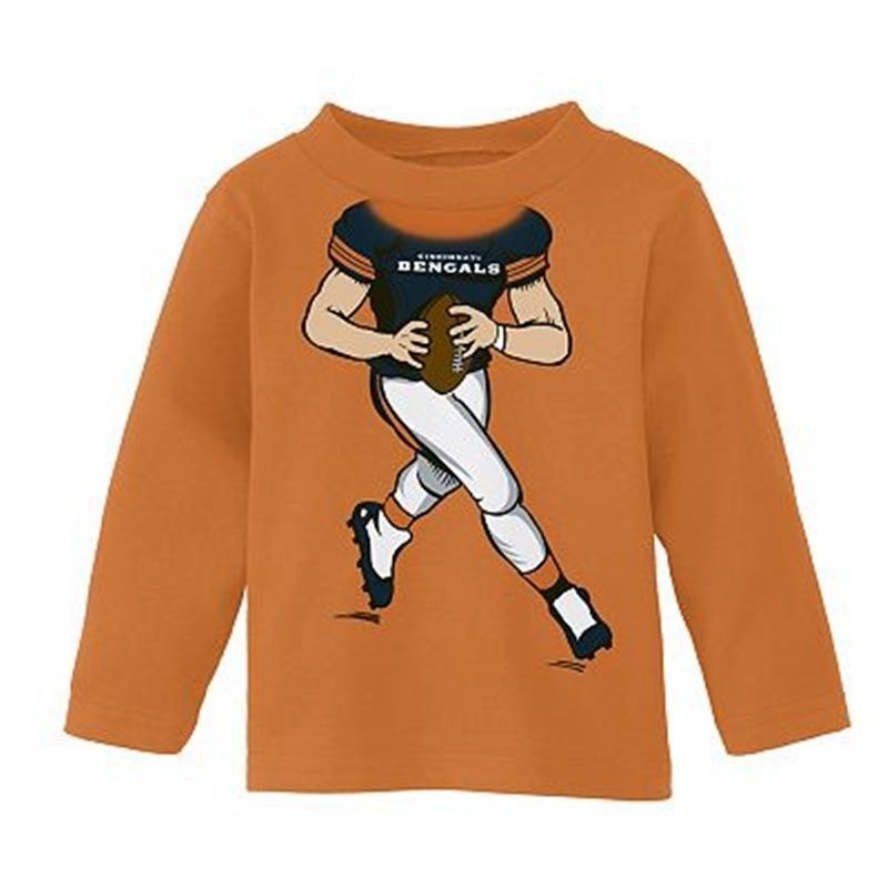 Primary image for Cincinnati Bengals Shirt Football FREE SHIP L/S Top NWT Boys 12 Months NEW