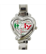 Italy Heart Italian Watch - $19.95