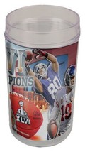 New York Giants World Champs 2 Glass set New 2011-2012 Manning 16 ounce NEW - $10.88