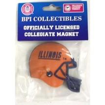 ILLINOIS FIGHTING ILLINI 3-D NCAA FOOTBALL HELMET 3 INCH MAGNET SET OF 2 - $8.43