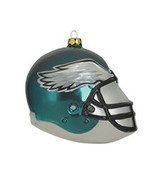 Philadelphia Eagles Football Blown Glass Christmas Ornament - $9.48