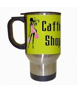 Caffienated Shopaholic Stainless Steel Coffee Travel Mug - $17.95