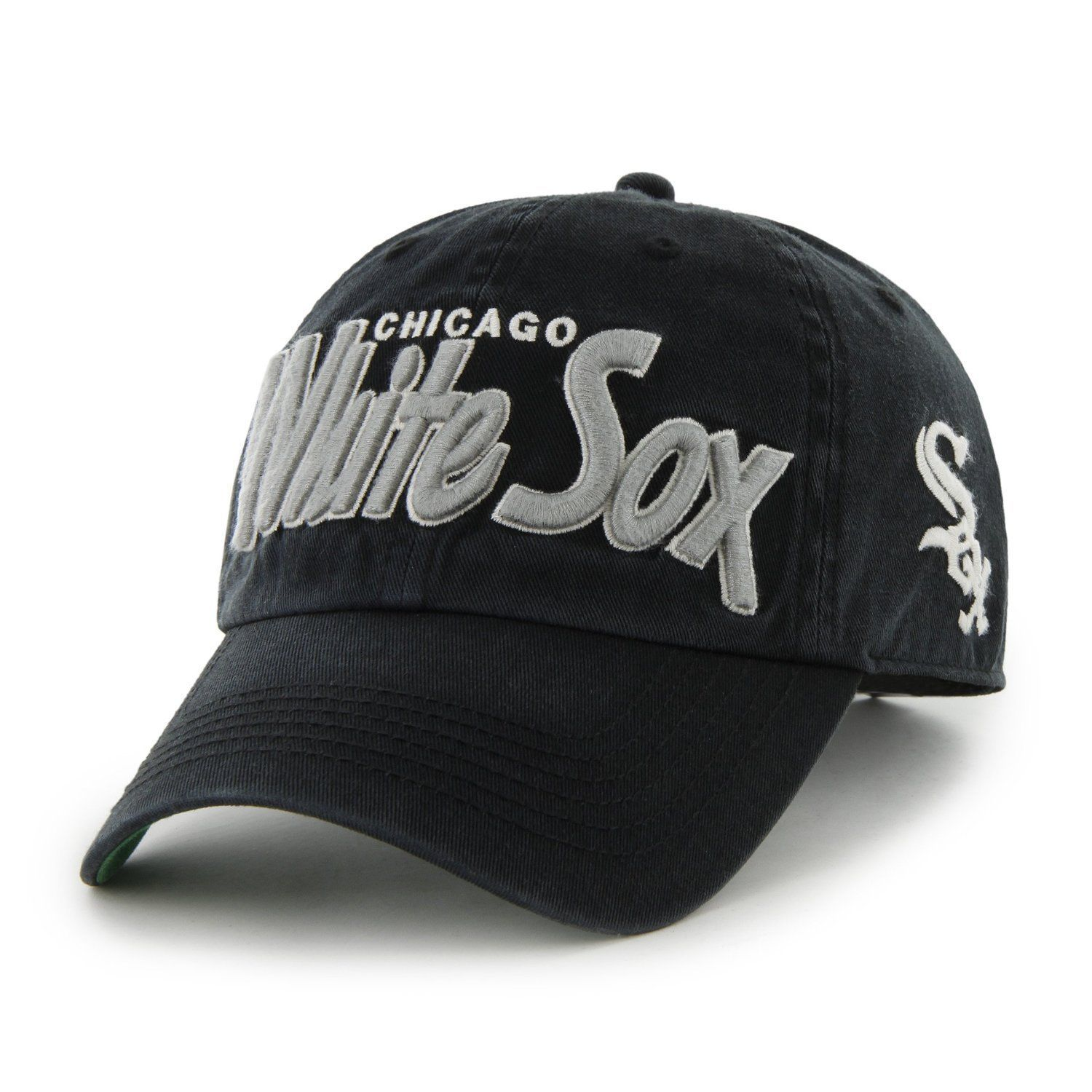 Chicago White Sox MLB Basseball Black Mens 47 Brand Modesto Hat Cap Snap back