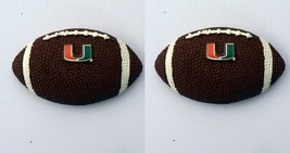 Miami Hurricanes Football Magnet .Free shipping. Set of 2. NCAA licensed NEW - $10.77
