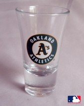 MLB Shot Glass, Oakland Athletics, Logo, NEW Very Rare design Collectibl... - $8.79