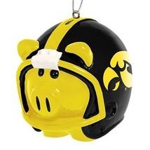 Iowa Hawkeyes Ncaa  Helmet Pig Football Sports Ornament Ncaa Lic.New - $12.09