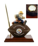 Pittsburgh Steelers Football Premium DeskSet Pen+ Penholder Deskclock Wo... - $26.72