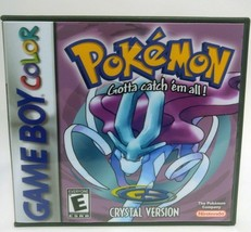 Pokemon Crystal Version -GBC- Gameboy Color Custom Replacement CASE *NO ... - $5.94