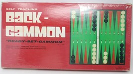 Backgammon Boardgame Game 1978 John N Hansen Co Ready-Set-Gammon Self Te... - $36.45