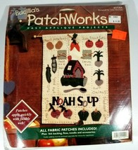 """Bucillas Fabric Patchworks Easy Appliqué Projects 41144 Noah Soup 13"""" X 17"""" - $12.86"""