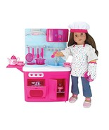 Sophia's 18 Inch Doll Kitchen with 19 Pieces, Features Lights & Sounds - $45.17