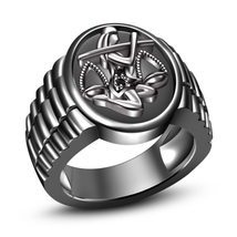 Real Black Diamond 14K Black Gold Finish .925 Sterling Silver Libra Zodiac Ring - $113.39