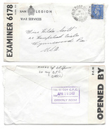 1943 WWII Canada GB US Censored Cover Canadian ... - $7.99