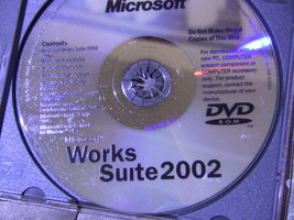 Microsoft Works Suite 2002 - with Product Key - $4.99
