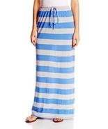 C&C California Women's Oatmeal Stripe Lined Maxi Long Skirt  Blue S - $23.99