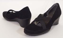 Aerosoles Aviator Womens Black Suede Leather We... - $49.99
