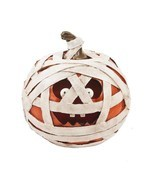 Ganz Light Up Mummy Jack O Lantern Pumpkin Resin Figurine Halloween Deco... - €26,22 EUR