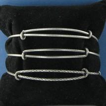Alex & Ani Set of 3 Silver Expandable EWB Bracelet Russian Silver NWT - $33.94