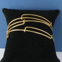 Alex and Ani Set of 3 Bangle Bracelets EWB Russian Gold NWT - $38.79