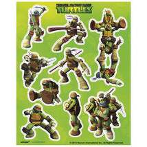 Teenage Mutant Ninja Turtles Stickers 4 Sheets Favors Party TMNT - $2.84