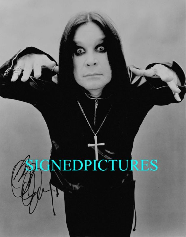 Primary image for OZZY OSBOURNE SIGNED AUTOGRAPHED AUTOGRAPH 8X10 RP PHOTO SCARY SATANIC