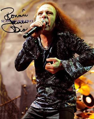 Primary image for RONNIE JAMES DIO SIGNED RP PHOTO BLACK SABBATH HEAVEN