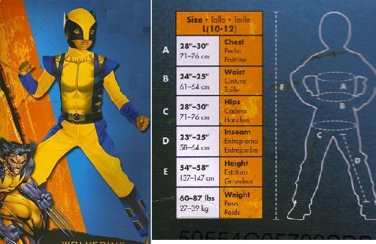 WOLVERINE XMEN NEW!! COMIC BOOK 10 to 12 childs costume