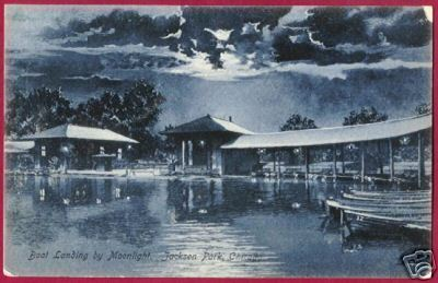Primary image for CHICAGO ILLINOIS Jackson Pk Boats Moonlight IL
