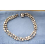 "Vintage White ""Pearl"" & Iridescent Beads Choker... - $9.99"