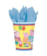 amscan Peppa Pig 9 oz. Paper Cups - 8 Count - $4.90