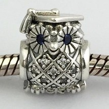 Authentic Pandora Graduate Owl Sterling Silver Charm Bead 791502NSB New - $48.44