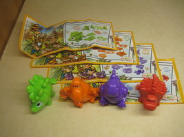 Kinder - 2015 FF060-063 Mixart - Dinos - complete set + 4 papers - surprise eggs - $4.50