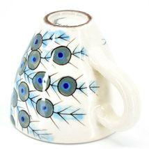 Ceramic Hand Painted Peacock Design Espresso Cup Mug Handmade Guatemala image 6
