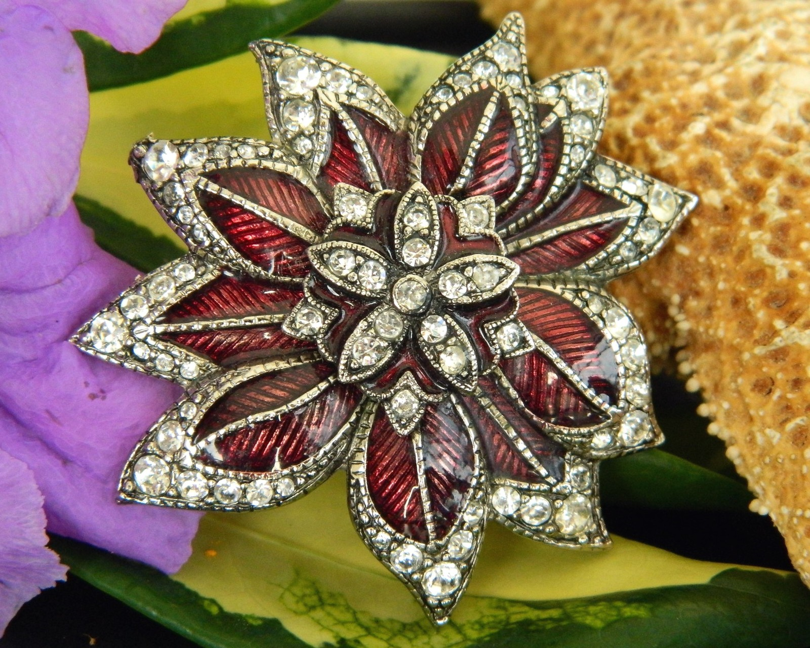 f4c9832d3e6 Vintage Monet Poinsettia Flower Brooch Pin and 38 similar items