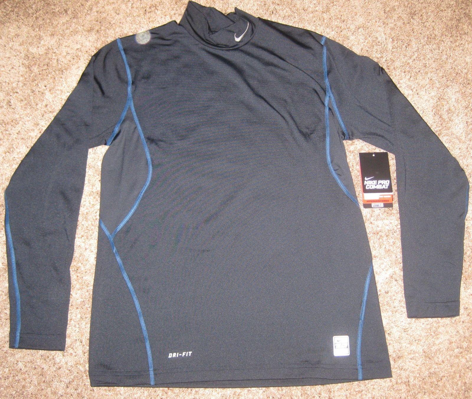 a9c6ea823 Nike Mens Pro Combat Hyperwarm Dri Fit Fitted 2.0 Shirt | RLDM