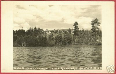 Primary image for Onaway MI Canada Creek Ranch House RPPC Michigan BJs
